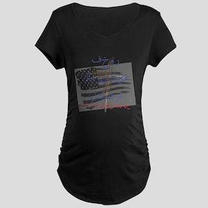 """Proud American Infidel"" Maternity Dark T-Shirt"