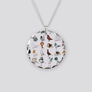 36 Pigeon Breeds Necklace Circle Charm