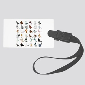 36 Pigeon Breeds Large Luggage Tag