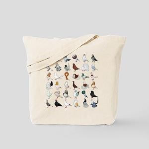 36 Pigeon Breeds Tote Bag