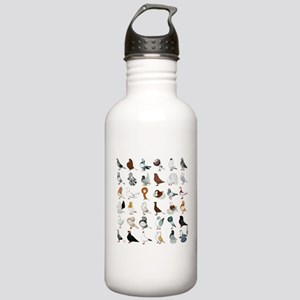 36 Pigeon Breeds Stainless Water Bottle 1.0L
