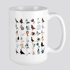 36 Pigeon Breeds Large Mug