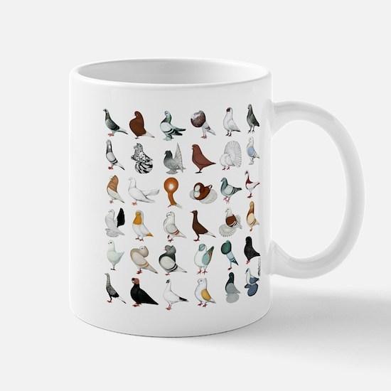 36 Pigeon Breeds Mug