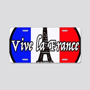 Vive la France Aluminum License Plate