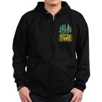 May The Forest Be With You Zip Hoodie (dark)
