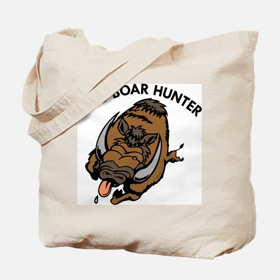 Wild Boar Hunter Tote Bag