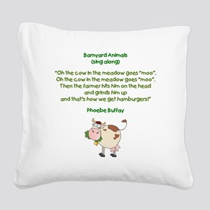 PHOEBE QUOTE Square Canvas Pillow