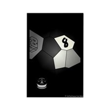 8 Ball Illusion 3D Rectangle Magnet