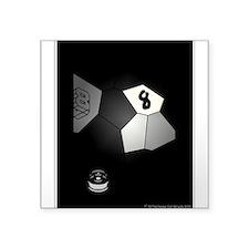 8 Ball Illusion 3D Square Sticker 3