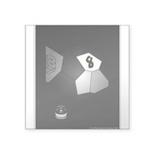 8 Ball Illusion 3D Square Sticker 3