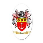 Mager Oval Car Magnet