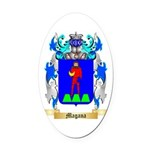 Magana Oval Car Magnet