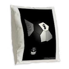 8 Ball Illusion 3D Burlap Throw Pillow