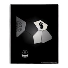 8 Ball Illusion 3D Throw Blanket