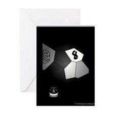 8 Ball Illusion 3D Greeting Card