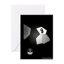 8 Ball Illusion 3D Greeting Card