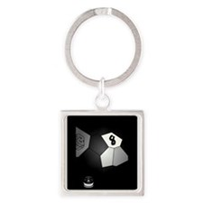 8 Ball Illusion 3D Square Keychain