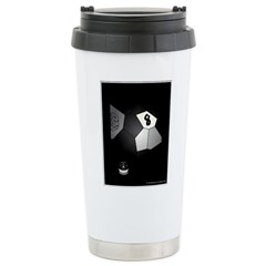 8 Ball Illusion 3D Stainless Steel Travel Mug
