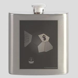 8 Ball Illusion 3D Flask