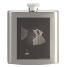 8 Ball Illusion 3D Flask