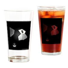 8 Ball Illusion 3D Drinking Glass