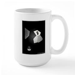 8 Ball Illusion 3D Large Mug