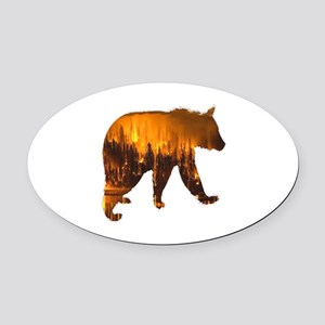 FIRE Oval Car Magnet
