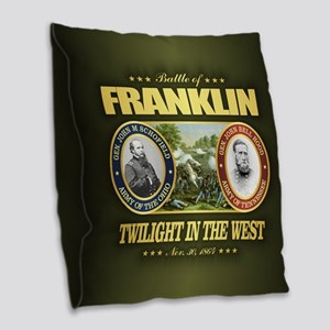 Battle of Franklin (FH2) Burlap Throw Pillow