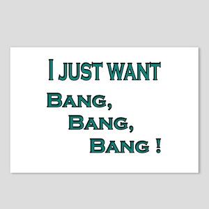 Bang, bang, bang Postcards (Package of 8)