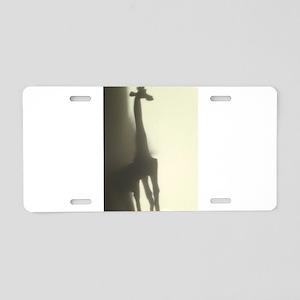 Mignon Giraffe Silhouette S Aluminum License Plate