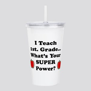 1st. Grade Teacher Acrylic Double-wall Tumbler