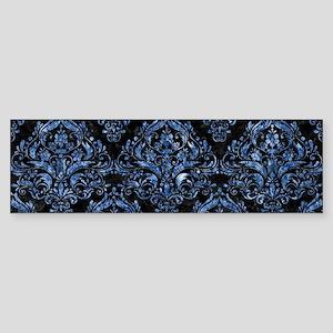 DAMASK1 BLACK MARBLE & BLUE MARBL Sticker (Bumper)