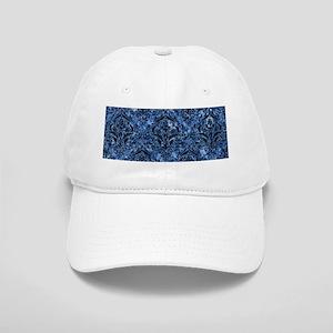 DAMASK1 BLACK MARBLE & BLUE MARBLE (R) Cap