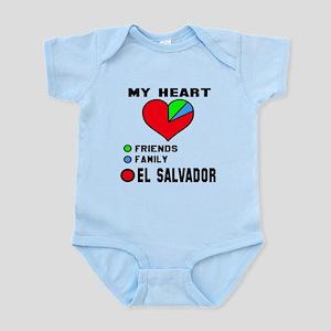 My Heart Friends, Family and E Baby Light Bodysuit