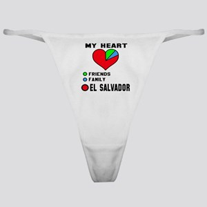 My Heart Friends, Family and El Salv Classic Thong