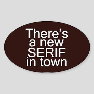 Funny Font Sticker (Oval)