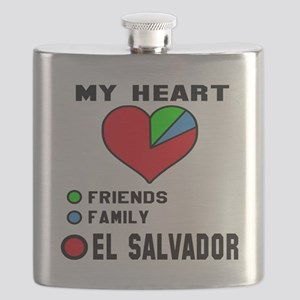 My Heart Friends, Family and El Salvador Flask