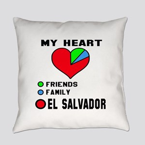 My Heart Friends, Family and El Sa Everyday Pillow