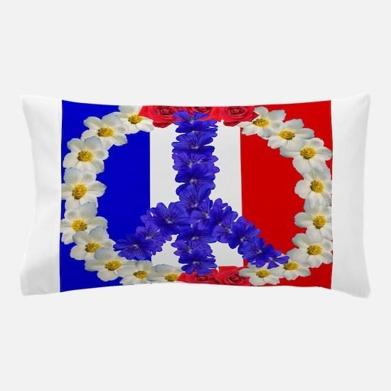 peace sign paris Pillow Case