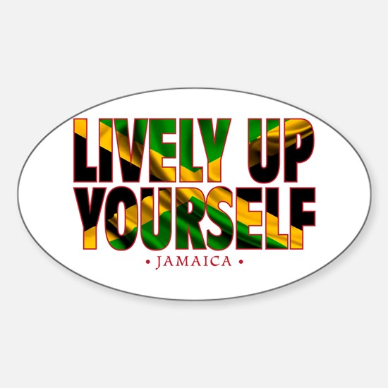 Lively Up Yourself - Sticker (Oval)