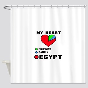 My Heart Friends, Family and Egypt Shower Curtain