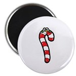 Happy Smiley Candy Cane Magnet