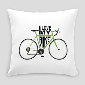 I Love My Bike Everyday Pillow