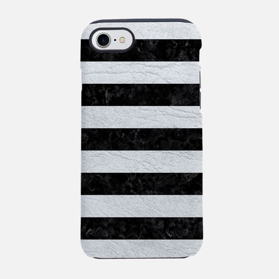 STRIPES2BLACK MARBLE & WHITE iPhone 8/7 Tough Case
