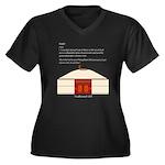 Yurt Definition Women's Plus Size V-Neck Dark T-Sh