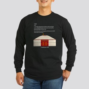 Yurt Definition Long Sleeve Dark T-Shirt