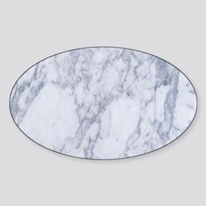 Realistic White Faux Marble Stone Pattern Sticker