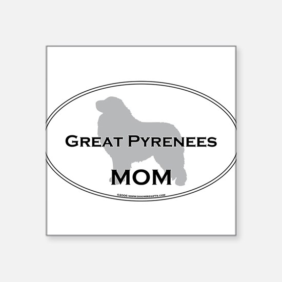 "Cool Pyrenees Square Sticker 3"" x 3"""