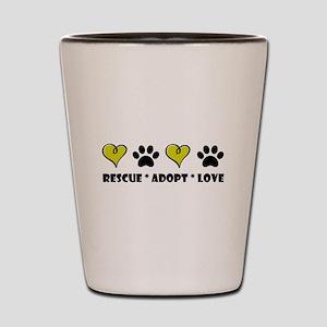Rescue * Adopt * Love Shot Glass