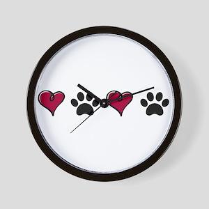 Love Pets Wall Clock